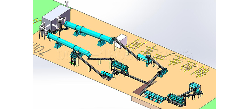 Granulated poultry manure fertilizer production line with stiring teeth granulator machine