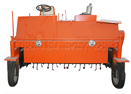 Horse manure moving type compost turner