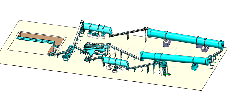 Rotary Drum Fertilizer Production Line