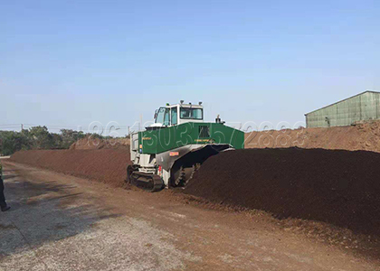 Windrow Compost Turner for Powdery organic Fertilizer Production