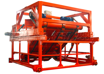 Animal manure chain type compost turner