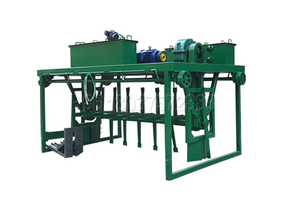 Cattle manure groove type compost turning machine