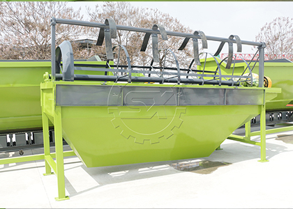 Organic fertilizer rotary screening machine